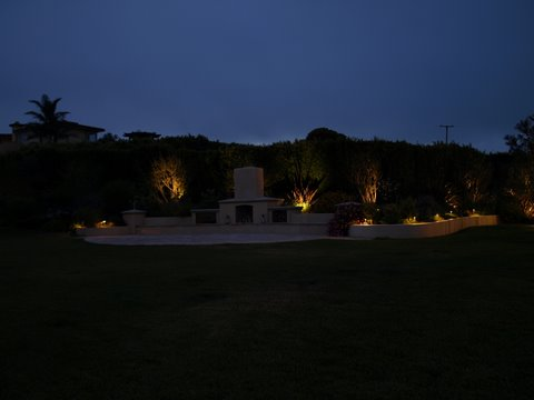 Landscape Lighting Newbury Park Patio Area