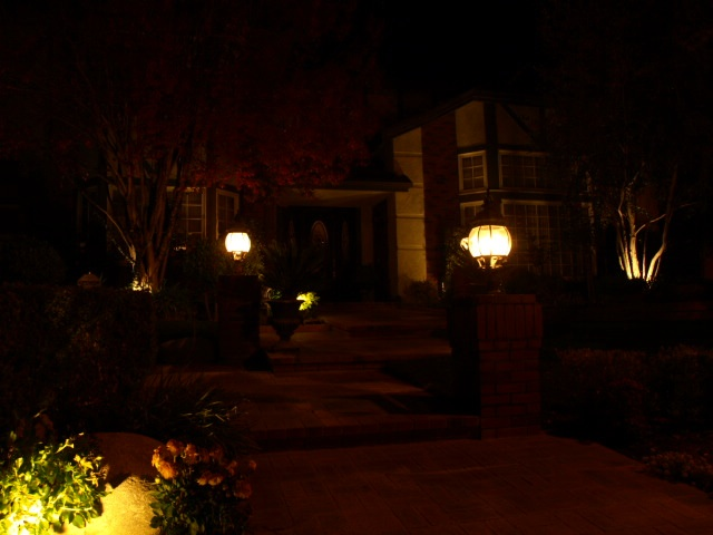 Landscape Lighting Newbury Park Entrance